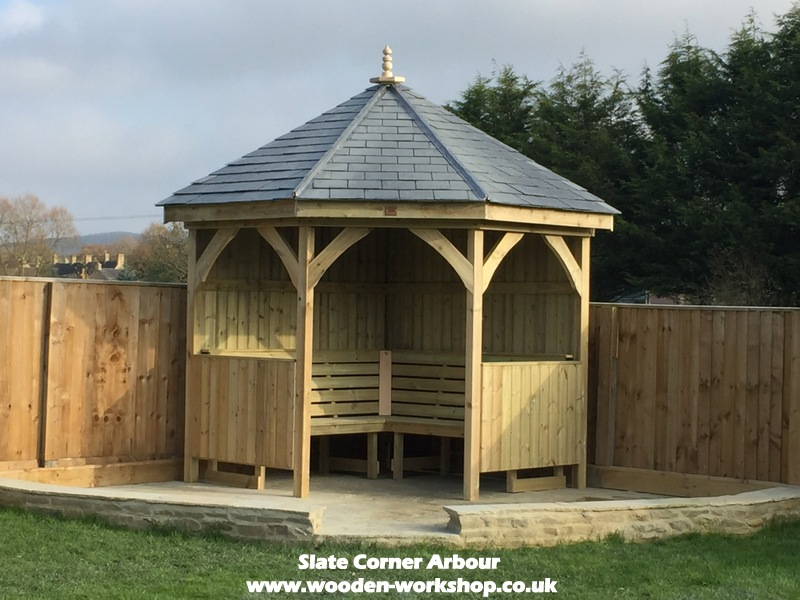 Corner Arbour Slate Tile Option The Wooden Workshop