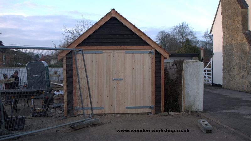 Cedar Garage The Wooden Workshop Oakford Devon
