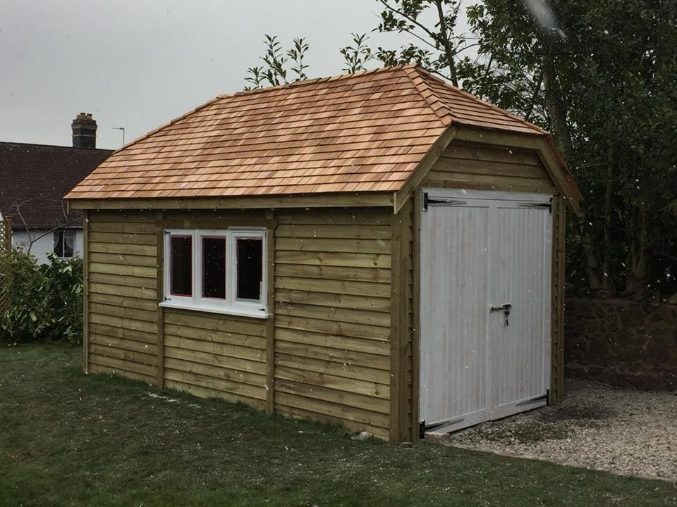 Hipped Roof Garage The Wooden Workshop Oakford Devon