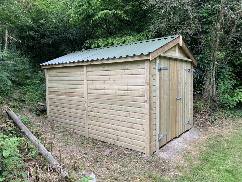 Bespoke shed tin roof - The Wooden Workshop Devon