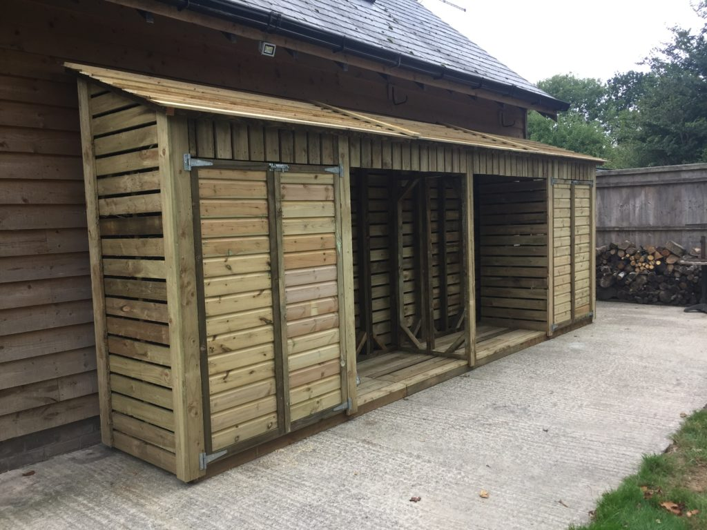 Timber log stores - The Wooden Workshop Bampton Devon