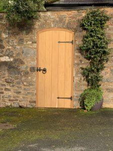Iroko Side Gate - The Wooden Workshop bampton Devon