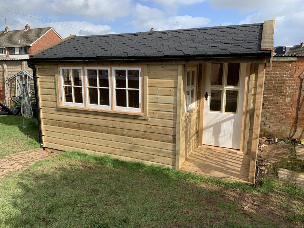 Timber garden studio - The Wooden Workshop Bampton Devon