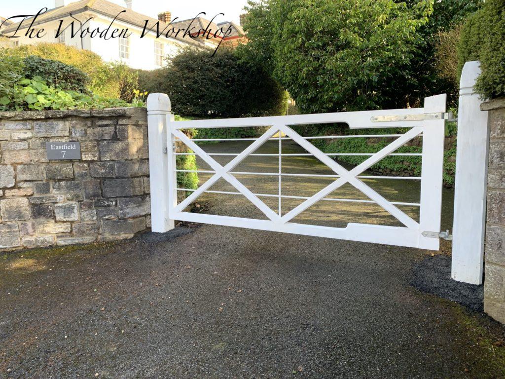 Hardwood Sapele gates - The Wooden Workshop Bampton Devon