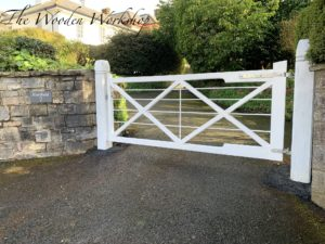 Hardwood Sapele gates - The Wooden Workshop Bampton Devon