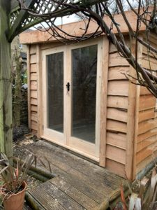 Timber workshop - Fully glazed doors - The Wooden Workshop Bampton Devon