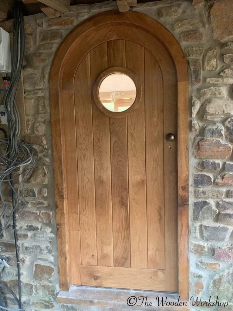 Curved Oak Door The Wooden Workshop Devon