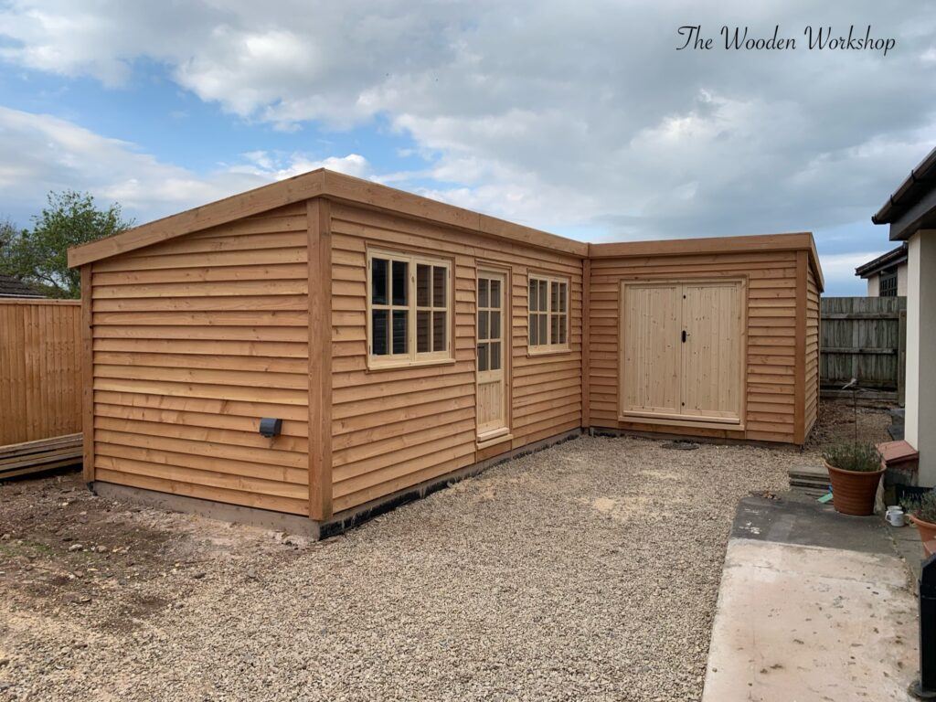 Timber garden office - The wooden workshop Bampton DEVON