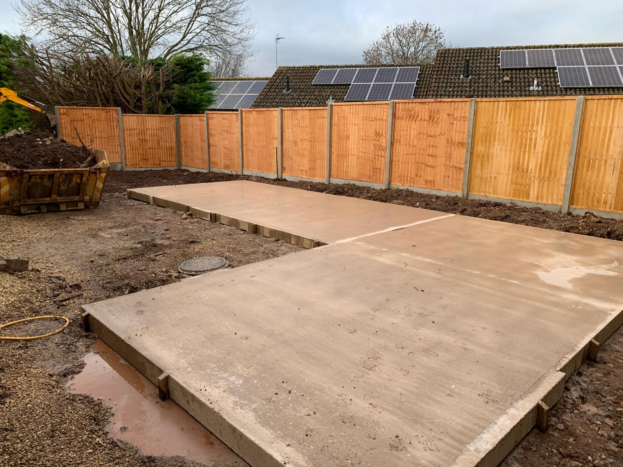 Concrete base Timber garden office - The wooden workshop Bampton DEVON